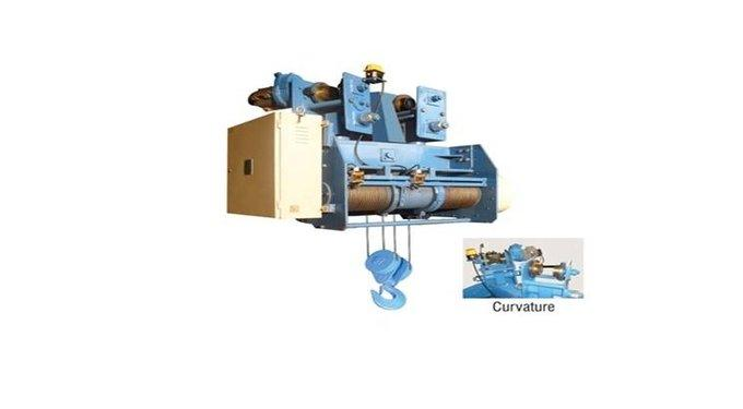 curvature-type-wire-rope-hoist